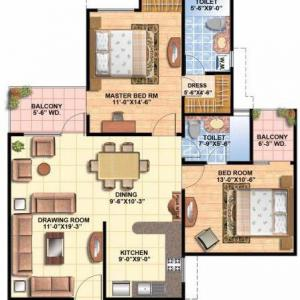 Floor Plan 2 BHK Executive